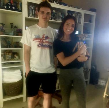 Toby's new parents