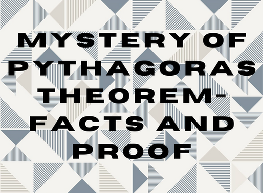 Mystery of Pythagoras theorem-Facts and Proof