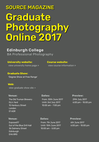 Source Magazine - Graduate Photography Online 2017