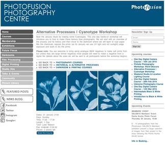 Cyanotype Workshop Photofusion