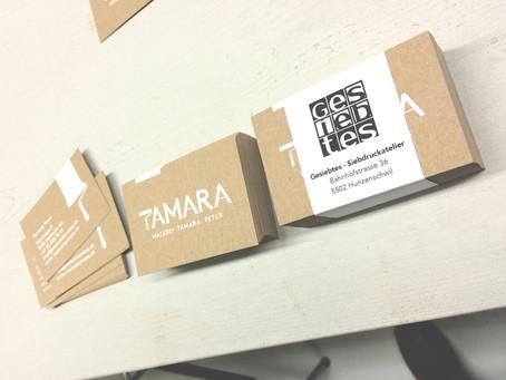 Erster Auftrag: 500 Visitenkarten