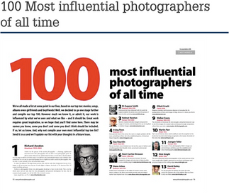 100 most influential photographers of all time.