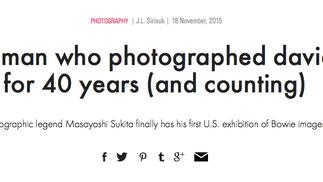Masayoshi Sukita's images of David Bowie spanning 40 years.