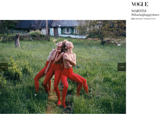 Martini and Vogue Italia - Andrew Tarnawczyk