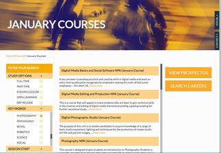 January Start Photography Courses