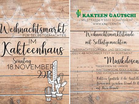 Weihnachtsmarkt beim Kakteen Gautschi