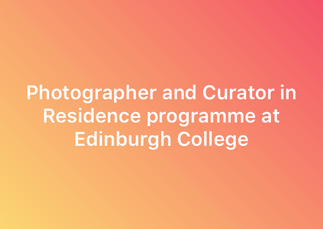 Photographer and Curator in Residence