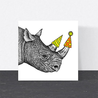 Rhino Birthday card