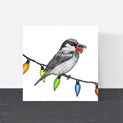 House sparrow Christmas card