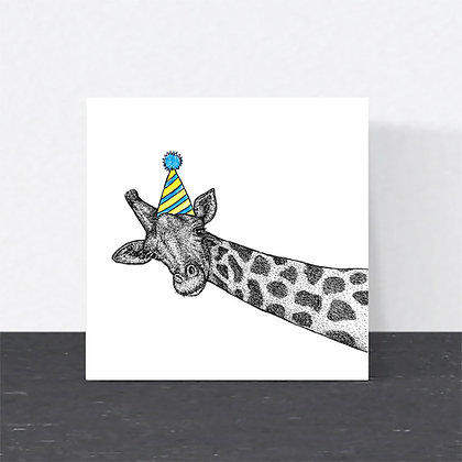 Party giraffe card
