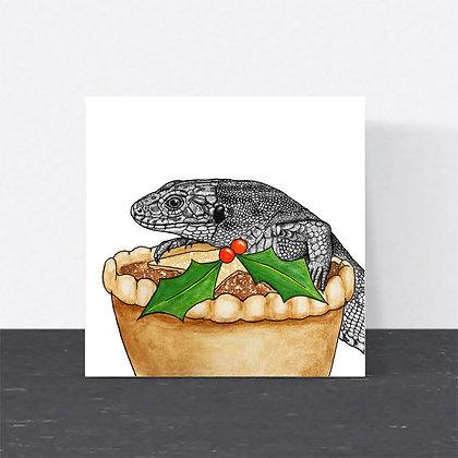 Sand lizard Christmas card