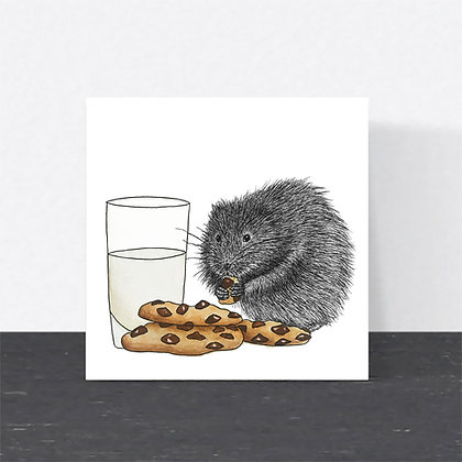 Water vole Christmas card