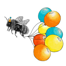 Birthday bumblebee