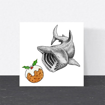 Basking shark Christmas card