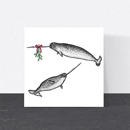 Narwhals Christmas card