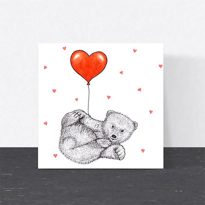 Baby bear Valentine's card