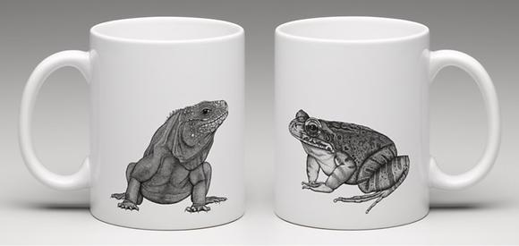 Iguana/frog mug