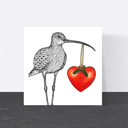 Curlew Christmas card