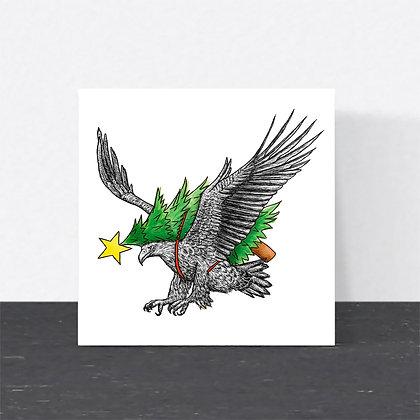 White-tailed eagle Christmas card