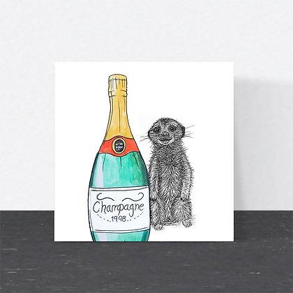 Meerkat celebration card