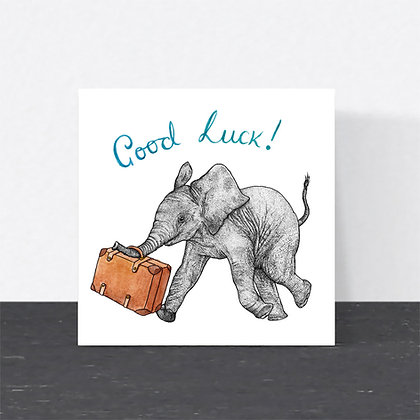 Elephant good luck card