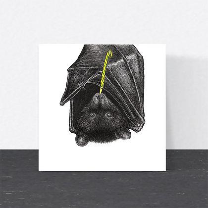 Party bat card