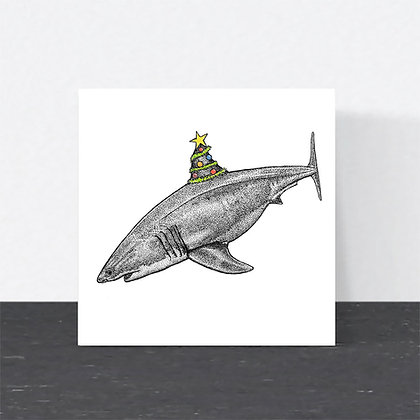 Shark Christmas card
