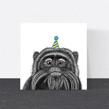 Party tamarin card