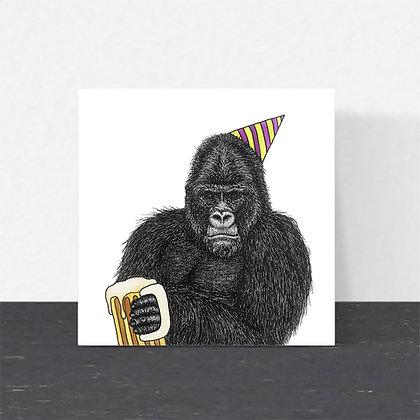 Grumpy gorilla card