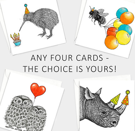 Choose any four cards!