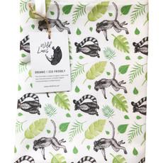 Lemur tea towel