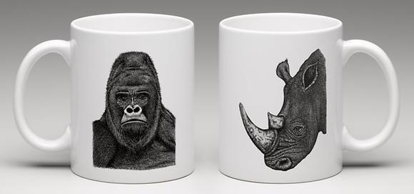 Gorilla/rhino mug