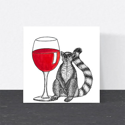 Lemur wine card