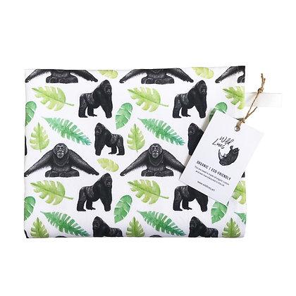 Organic cotton ape-themed tea towel
