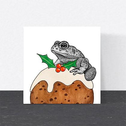 Natterjack toad Christmas card