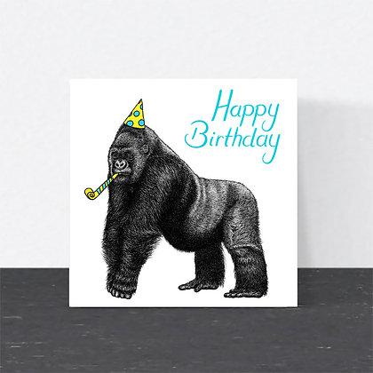 Silverback gorilla Birthday card