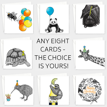 Choose any eight cards!