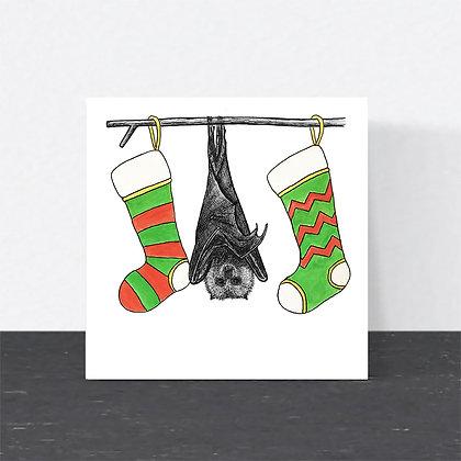 Fruit bat Christmas card