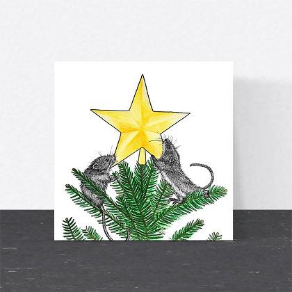 Harvest mouse Christmas card