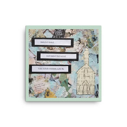 Amazing Grace Mixed Media Art Canvas