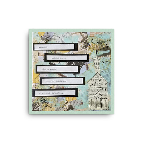Waymaker Mixed Media Art Canvas