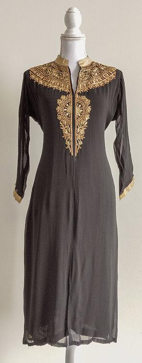 Stunning black and gold long kurti top