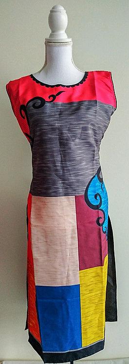 Digital print long polyester kurti top