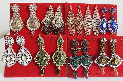 Assorted heavy stone earrings
