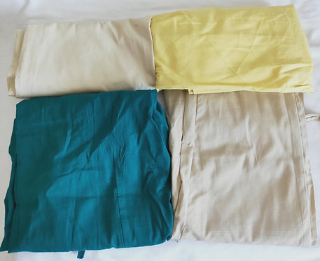Assorted cotton/polyester sari petticoats
