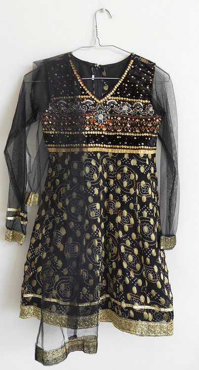 Stunning black and gold two piece suit
