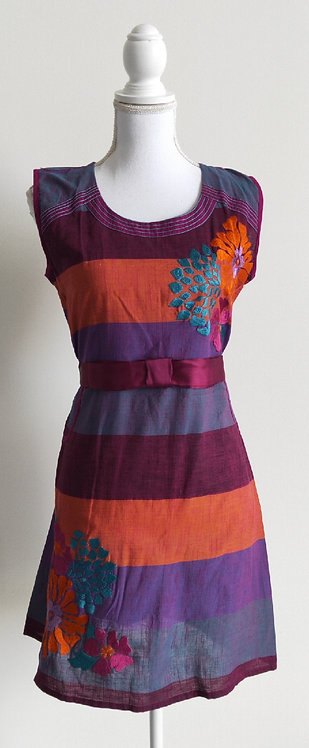 Stylish purple and orange printed kurti top