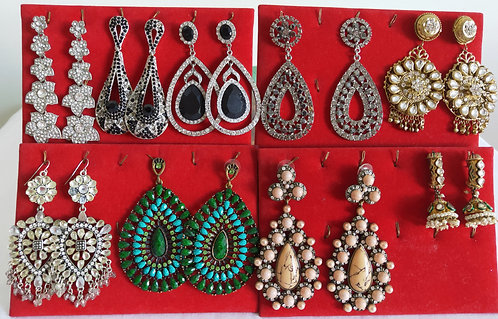 assorted large coloured earrings