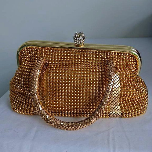 Brand new gold or silver beaded purse