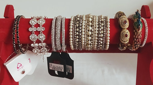 Assorted stone, metal bangles and bracelets from $9.95